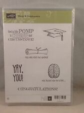 POMP & CIRCUMSTANCE Stampin Up Graduation, Diploma, Brain, Cap NEW
