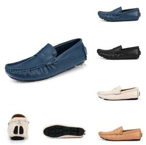 Mens Leather Loafers Driving Pumps Moccasins Gommino Casual Boat Comfy Shoes Sz