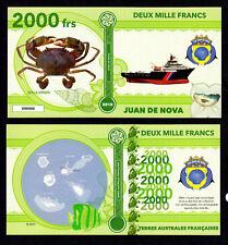 ILE JUAN DE NOVA ● TAAF / COLONIE ● BILLET POLYMER 2000 FRANCS ★ N.SERIE 000008