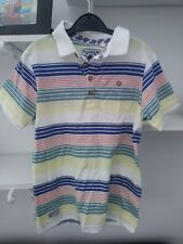 Boys Very Trendy Striped Polo Shirt by TU Aged 7 Years - Worn Once
