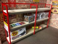 1/18 scale double Width Shelving rack for garage diorama