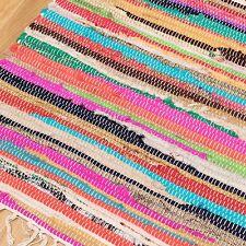 Fair Trade CHINDI Rag Rug 12 Sizes Recycled Handloom Cotton Braided Runner Mat 180x270cm (6x9')