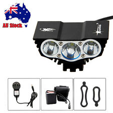 Super Bright 12000lm LED Front Bicycle Bike Light Torch Lamp+Battery+AC Charger