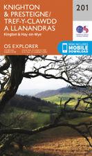 Knighton and Presteigne 201 Explorer Map Ordnance Survey with Digital Download