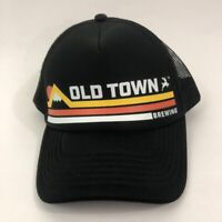 Brewery Unisex Trucker Hat Black Old Town Brewing Snapback Mesh One Size