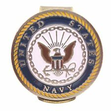 U.S. Navy Hat Clip with Double Sided USN Golf Ball Marker