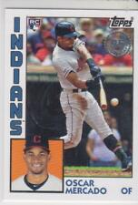 Topps 2019 Update 1984 #84-32 Oscar Mercado Cleveland Indians Rookie RC 35th