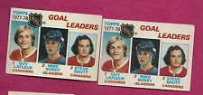 2 X  1978-79 TOPPS # 63  LAFLEUR / BOSSY RC / SHUTT  LEADERS GOOD (INV#6067)