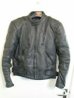 VINTAGE 90'S BELSTAFF HEAVY LEATHER MOTORCYCLE JACKET SIZE 42 + LINER
