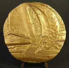 Médaille Course de bateau à voile voilier sailing boat race 595g 12,7 cm medal
