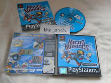 Micro Maniacs PS1 COMPLETE) comic Codemasters Sony PlayStation black label