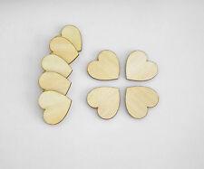 2cm x 30pcs. Wooden Hearts Laser Cut Craft Embellishment DIY Decorations Set