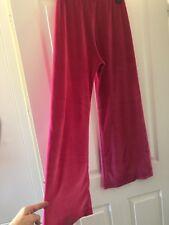 M&S Pink Velur Pj Trouser Bottoms Size 8