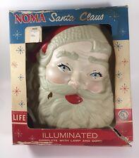Vintage NOMA Illuminated Santa Claus Wall Hanger Light w/ Original Box RARE FIND
