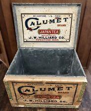 Calumet Japan Tea Chest/Box...JW Hilliard, Pipestone, Minn/MN/Minnesota/Japanese