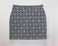 Hot Options Brand Black White Geo Print Mini Tube Skirt Size 10 BNWT #SU112