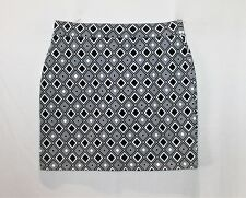 Hot Options Brand Black White Geo Print Mini Tube Skirt Size 10 BNWT #SU112