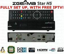 Used ZGEMMA H5 COMBO HD FreeSat FreeView SaorView SATELLITE TERRESTRIAL RECEIVER