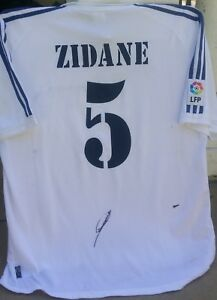 ZINEDINE ZIDANE FRANCE SIGNED #5 REAL MADRID 2002 ADIDAS JERSEY SHIRT+PROOF AUTO