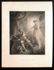 ANGEL APPEARING TO CORNELIUS 1798 William Skelton - Thomas Kirk ANTIQUE ETCHING
