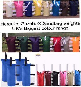 4x HERCULES GAZEBO SAND BAGS LEG WEIGHTS, FOR HEAVY DUTY POP UP GAZEBO MARQUEE