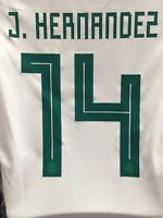 Adidas Mexico J.Hernandez #14 Away White Red Jersey 2018 Size S Men's Only