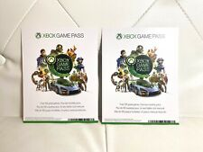 Xbox Live 1 Month Gold Membership And Game Pass Digital Codes 2 Lot Bundle