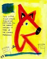 this little piggy e9Art 8x10 Pandemic Virus Outsider Art Painting Contemporary