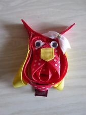 Ribbon Sculpture Hair Bow Alligator Clip Pink Owl