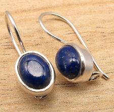 AAA FINE QUALITY JEWELRY EARRINGS , UnUSual LAPIS LAZULI ! 925 Silver Plated