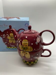 Christmas Treats by Laurie Gates Teapot Gingerbread Man