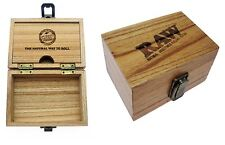 RAW DELUXE STORAGE ROLLING WOODEN BOX THE NATURAL WAY TO ROLL