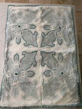 Pottery Barn Standard Pillow Sham~Aqua Blue~Stitching Detail