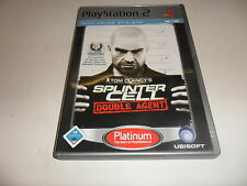 PLAYSTATION 2 PS 2 SPLINTER CELL-DOUBLE Agent (Tom Clancy) [Platinum]