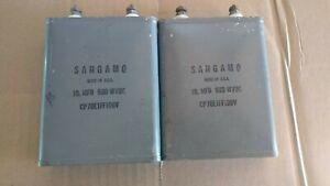 vintage SANGAMO oil capacitor 10 mfd 600wvdc