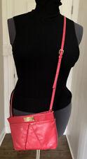 MARC JACOBS Clutch Crossbody Leather Bag Pink Fuchsia