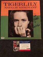 Natalie Merchant Signed Tigerlily Album Flat 12x12 PSA/DNA COA RARE