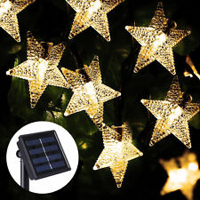 20 STAR LED 5M Solar Outdoor Fairy Lights Xmas Garden Wedding Party Waterproof