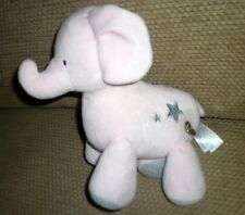 Carter's Plush PINK GRAY ELEPHANT Musical Twinkle Twinkle 2015 Stars Head Moves