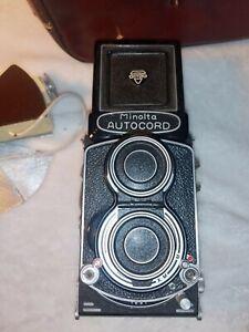 Vintage Camera Lot Minolta Autocord, flash