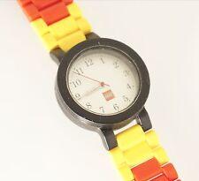 Lego Unisex Brick Watch Silver Analog Dial Black Case
