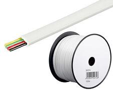 0,09/m 100m Telefonkabel Telefon Leitung Flachkabel 4Adrig Telefon Kabel weiss