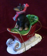 Doberman B/T Sleigh Ornament ~ 100% donated to Special Needs Dobermans