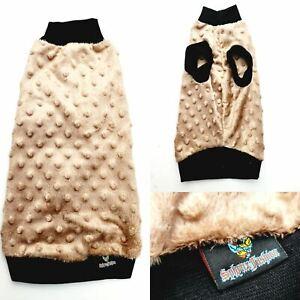 Latte Minky Fleece - Sphynx Cat Top, Devon Rex, Peterbald, Pet Cat Clothes