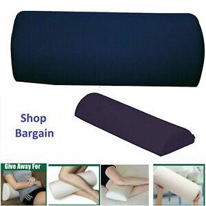 Sleep Knee Cushion Pillow Half Moon Memory Foam Back Support Bed Neck Travel UK