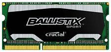 New Crucial Ballistix Sport 4GB DDR3 1866 MHz PC3-14900 Sodimm Laptop Memory RAM