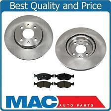12-16 Fiat 500 Non Turbo (2) Frt Brake Disc Rotors & Ceramic Pads 31599 CD1568