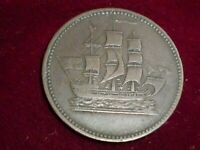 PE-10-41C  SHIPS AND COLONIES TOKEN ,PRINCE EDWARD ISLAND ,CANADA 1835