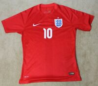 Nike Team England National Team Wayne Rooney Soccer Jersey Red Large