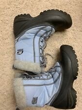 SOREL Cumberland Winter Snow Boots Womens 8 Blue Waterproof Rubber NL